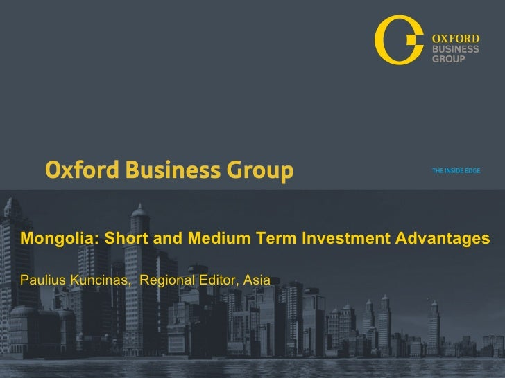 Oxford Business Group Mongolia