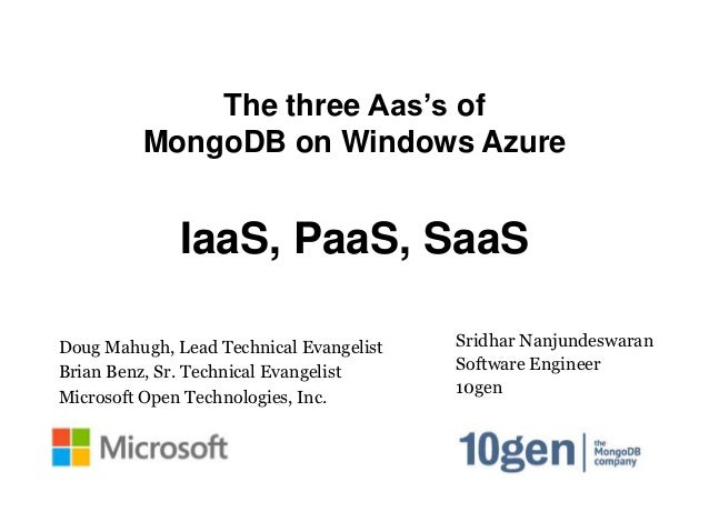 The three aaS's of MongoDB in Windows Azure