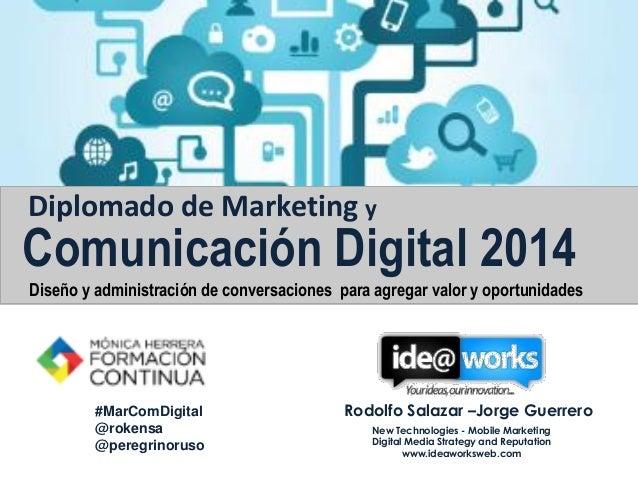 Monica Herrera diplomado en Marketing y Comunicación Digital taller 1 2014