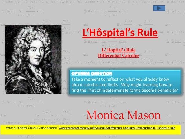 L'Hôspital's Rule                                                                           L' Hopital's Rule             ...