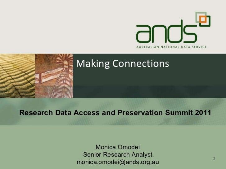 Monica Omodei RDAP11 Policy-based Data Management;
