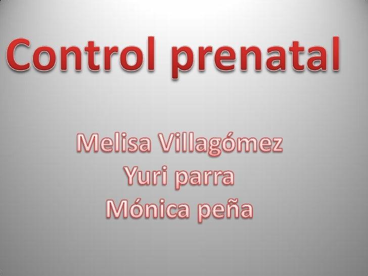 CONTROL PRENATAL  3 ciclo