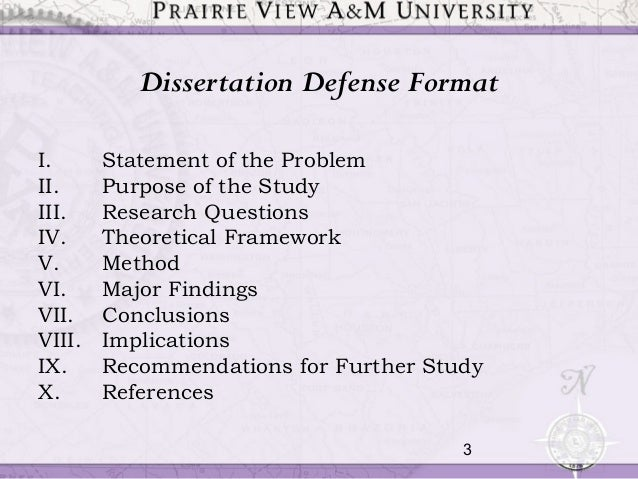 Dissertation defense presentation outline