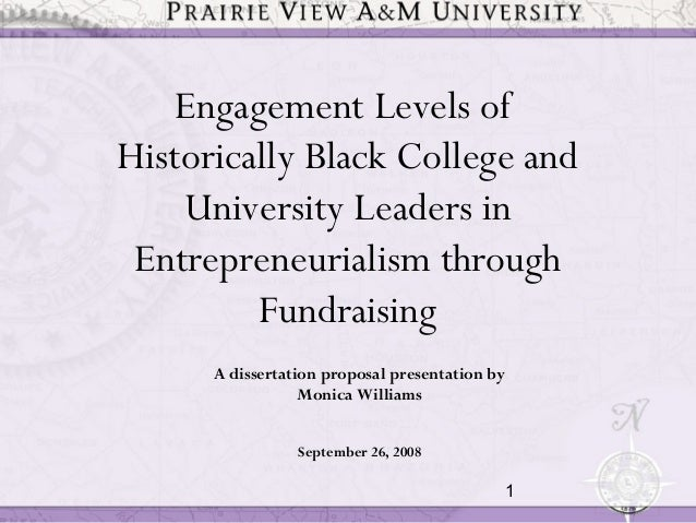 1A dissertation proposal presentation byMonica WilliamsSeptember 26, 2008Engagement Levels ofHistorically Black College an...