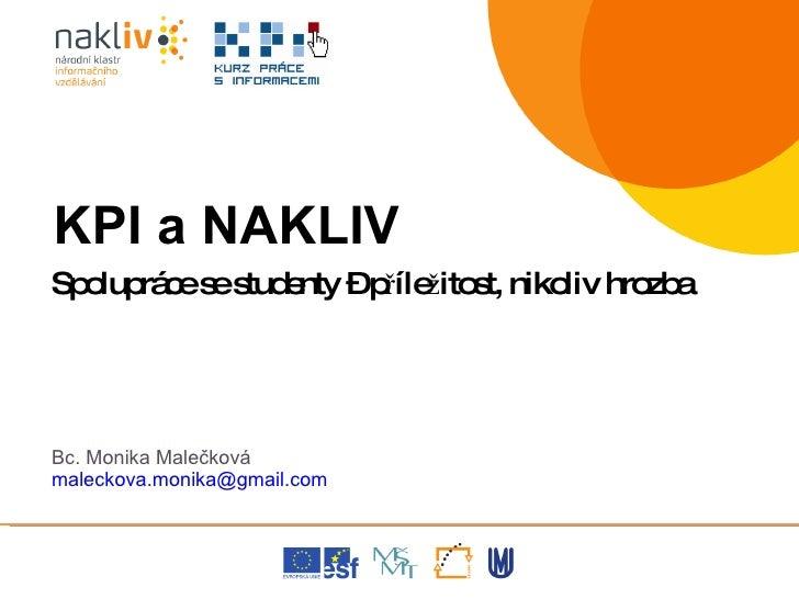 Prezentace M. Maleckova