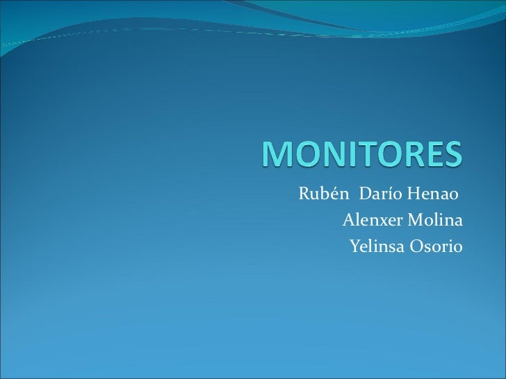 Rubén Darío Henao    Alenxer Molina     Yelinsa Osorio