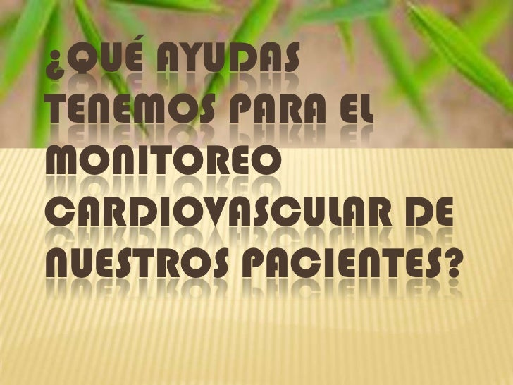 Monitoria cardiovascular