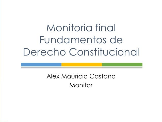 Monitoria final Fundamentos de Derecho Constitucional