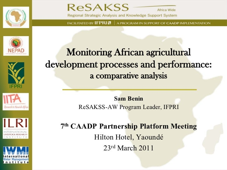 Monitoring African agricultural development processes and performance: a comparative analysis_2011