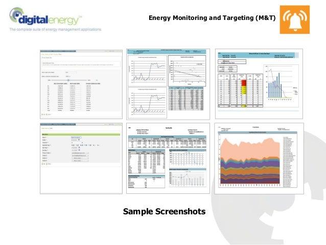 Energy Monitoring and Targeting (M&T) Sample Screenshots