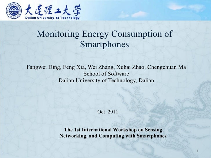 Monitoring energy consumption of smartphones