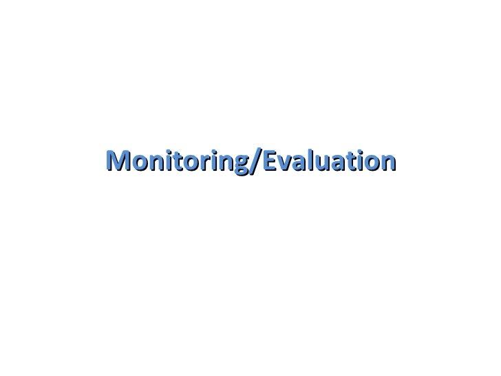 Monitoring & evaluation presentation[1]