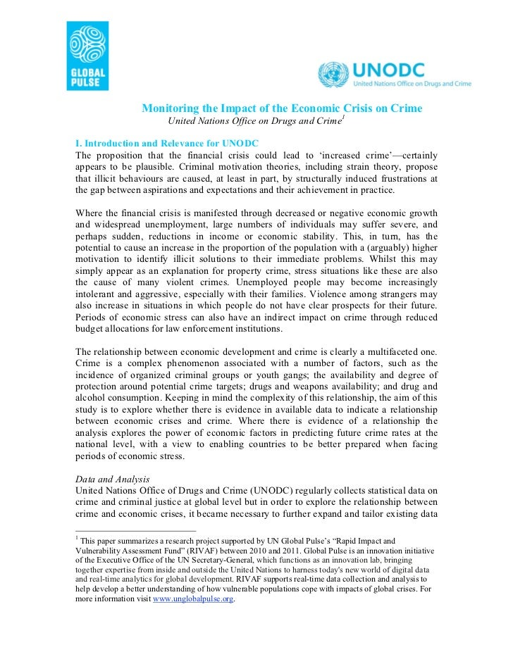 Monitoring the Impact of the Economic Crisis on Crime                           United Nations Office on Drugs and Crime1I...