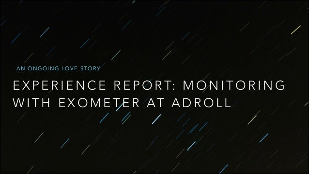 Monitoring with exometer at AdRoll