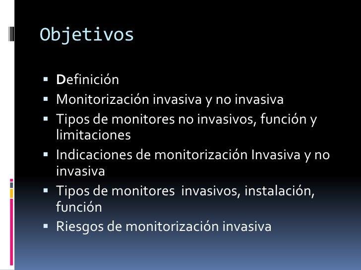 Monitorizacion no invasiva pdf