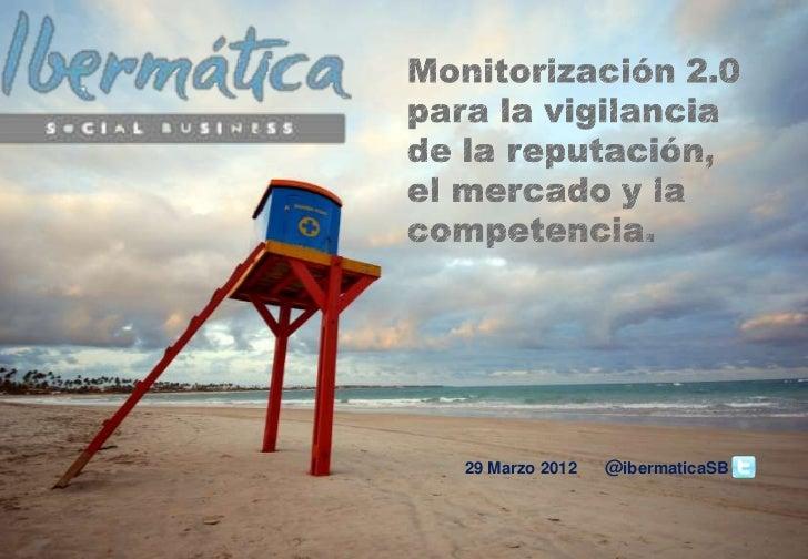 Monitorización 2.0 para la vigilancia de la reputación, el mercado y la competencia.