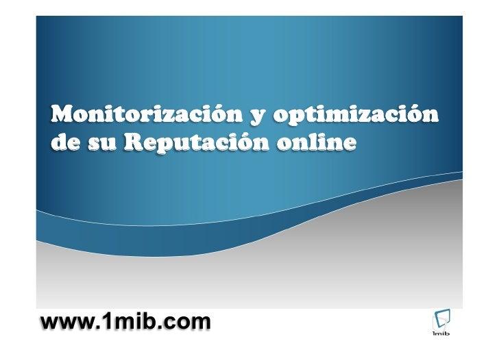 Monitorización y gestión de la reputación online