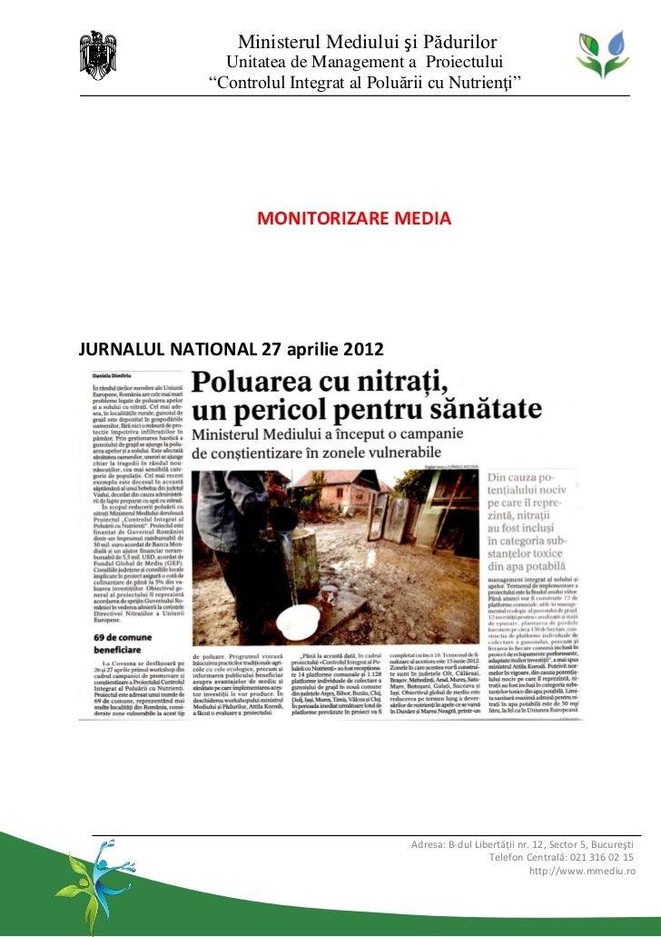 Workshop Controlul Integrat al Poluării cu Nutrienți, Covasna, in presa