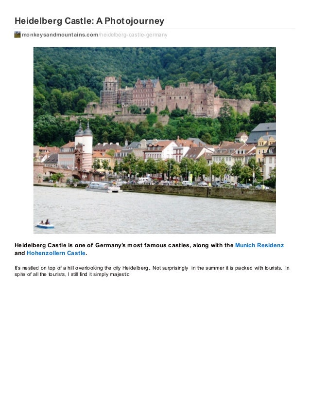 Heidelberg Castle: A Photojourney monkeysandmountains.com /heidelberg-castle-germany  Heidelberg Castle is one of Germany'...