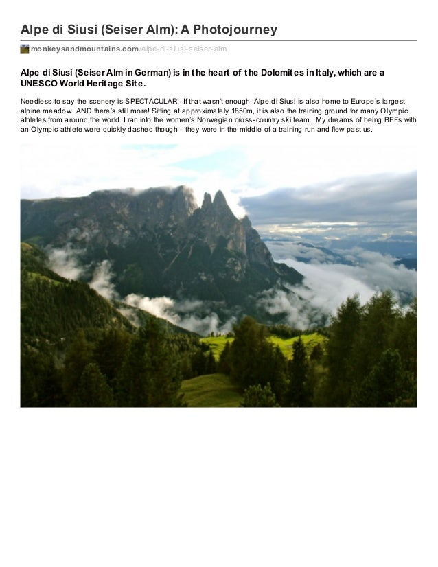 Alpe di Siusi (Seiser Alm): A Photojourney