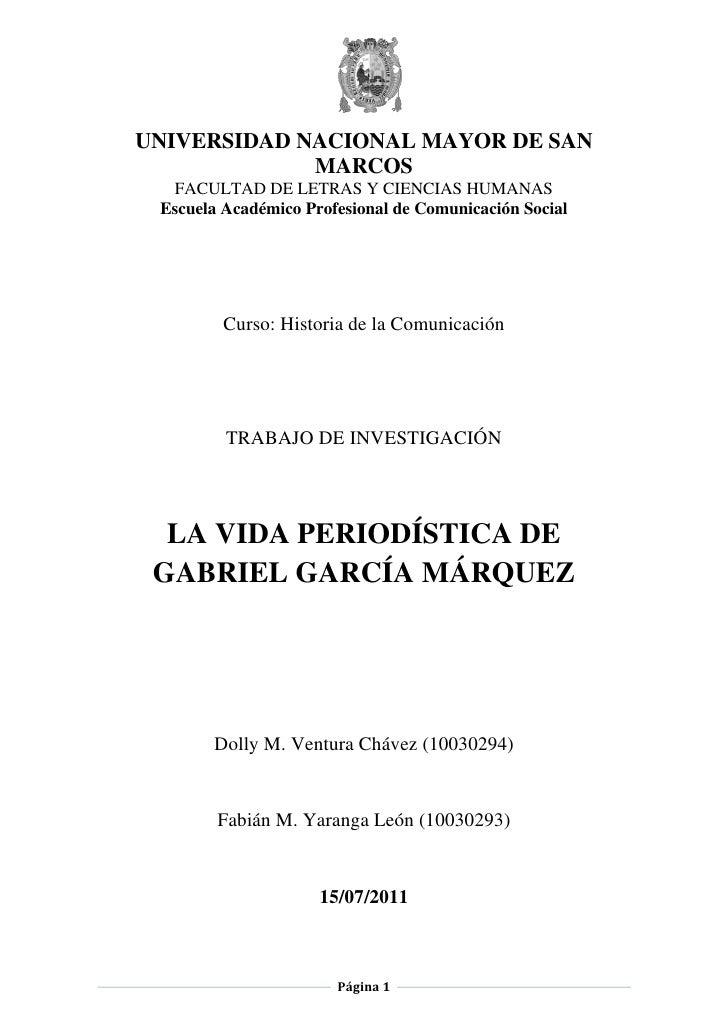 UNIVERSIDAD NACIONAL MAYOR DE SAN             MARCOS  FACULTAD DE LETRAS Y CIENCIAS HUMANAS Escuela Académico Profesional ...