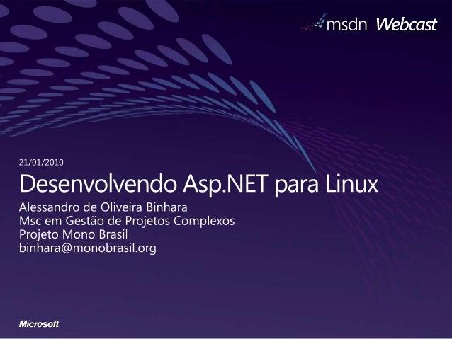 Semana Interop: Desenvolvendo Asp.NET para Linux