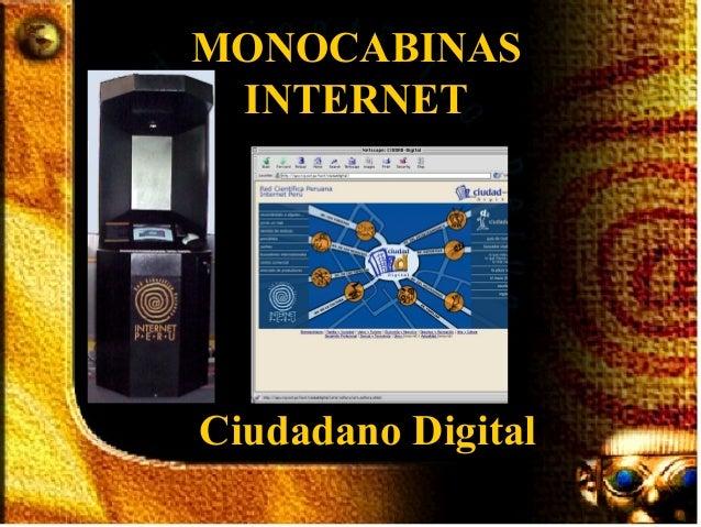 MONOCABINAS INTERNETCiudadano Digital