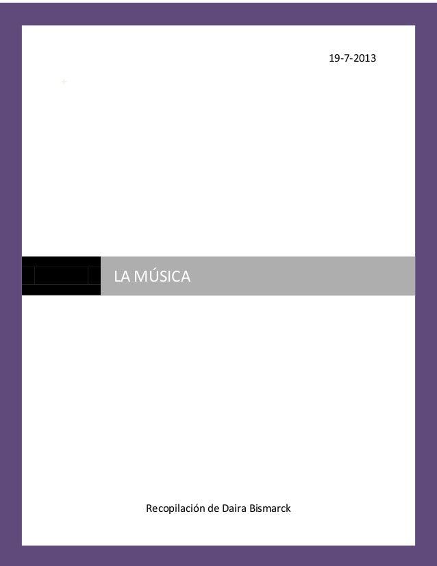 Monografía de la musica de daira bismarck