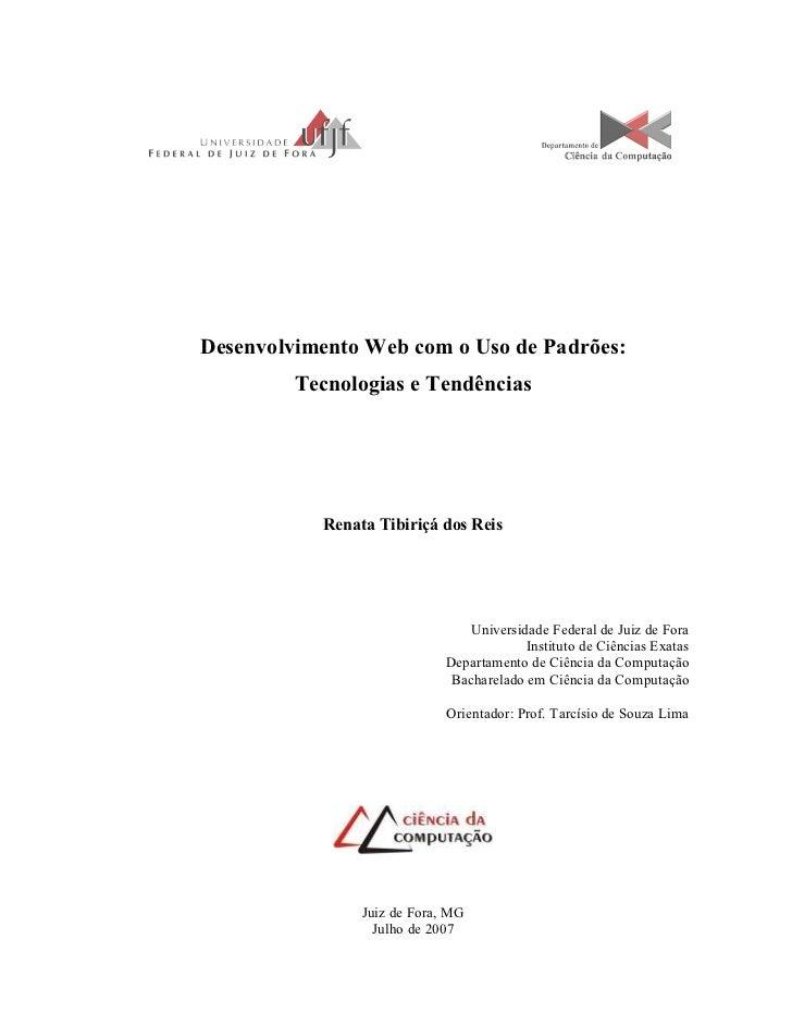 Monografia - Padrões Web