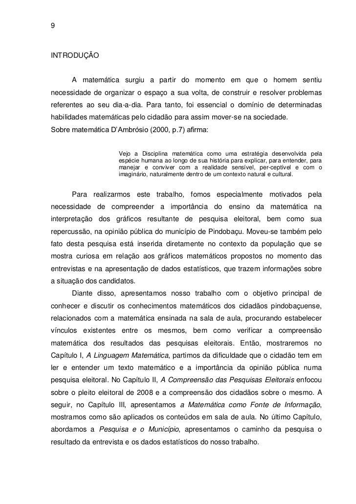 Monografia Antonio Costa Matemática 2010