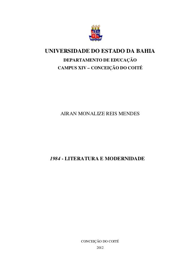 1984 - literatura e Modernidde