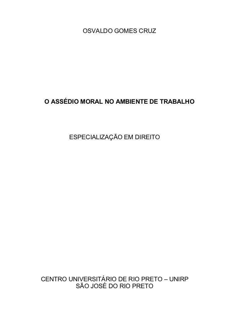 Monografia  -  Assédio Moral no Ambiente de Trabalho