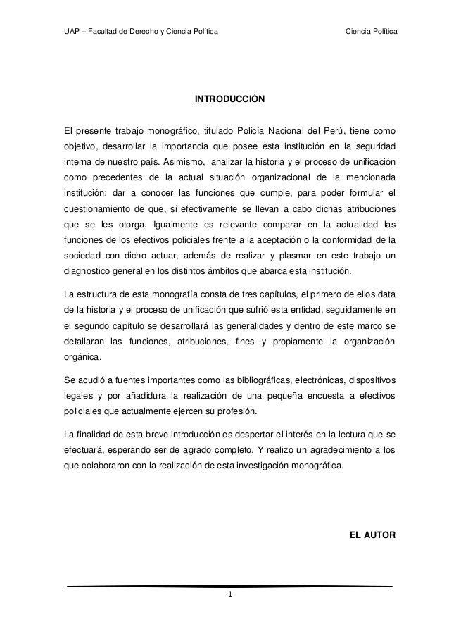 Monografia  policia nacional del perú