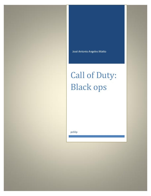 José Antonio Angeles Matto  Call of Duty: Black ops  pc02p