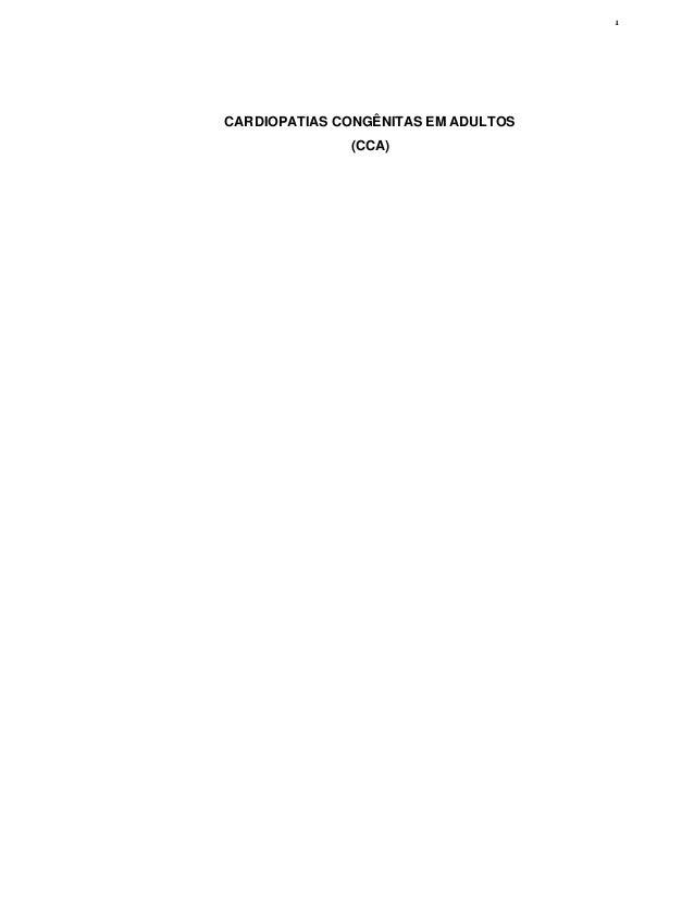 1 CARDIOPATIAS CONGÊNITAS EM ADULTOS (CCA)