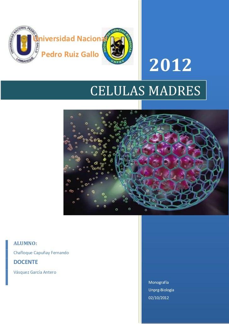 Universidad Nacional             Pedro Ruiz Gallo                                    2012                             CELU...