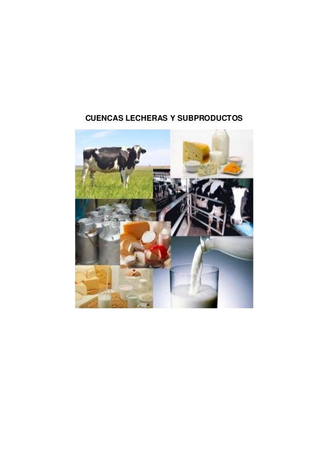 Monografia cuencas lecheras y subproductos