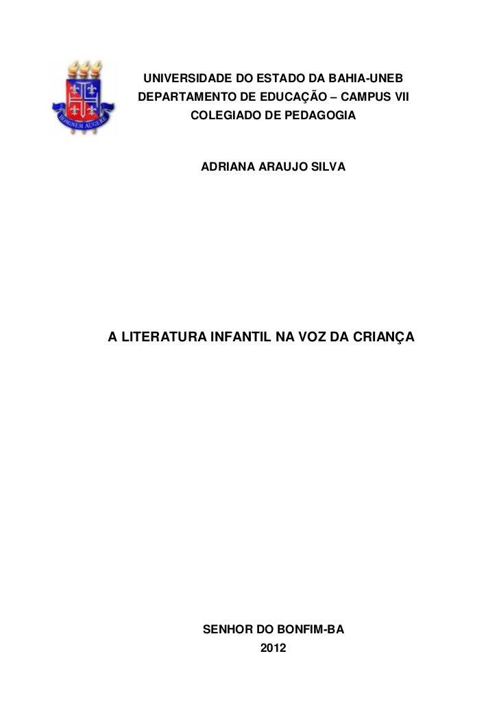 Monografia Adriana Pedagogia 2012