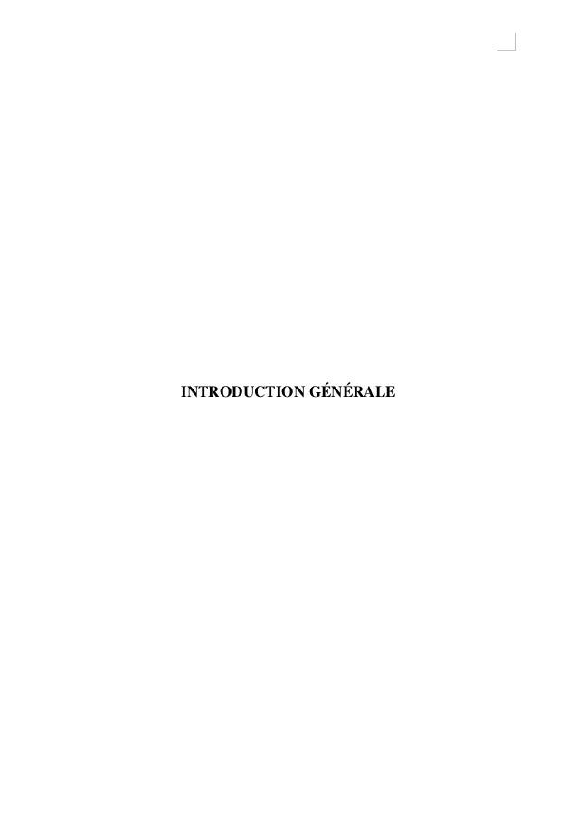 0 INTRODUCTION GÉNÉRALE
