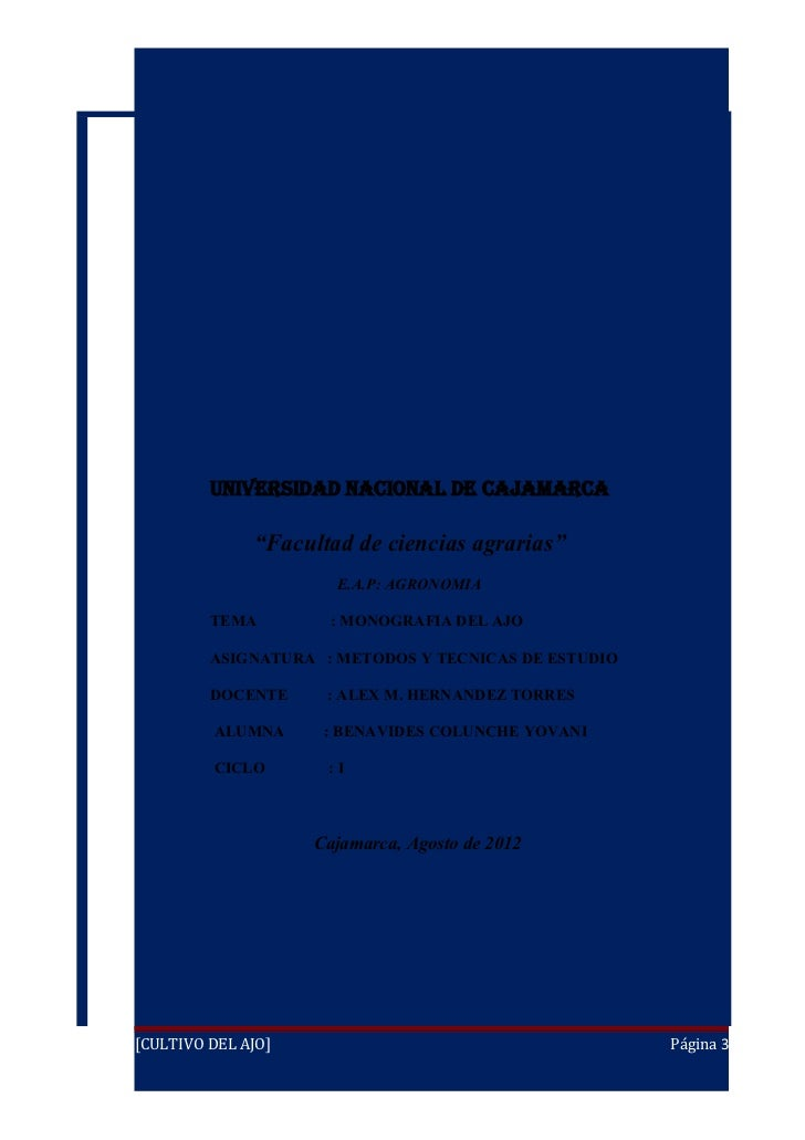 Monografia agronomia