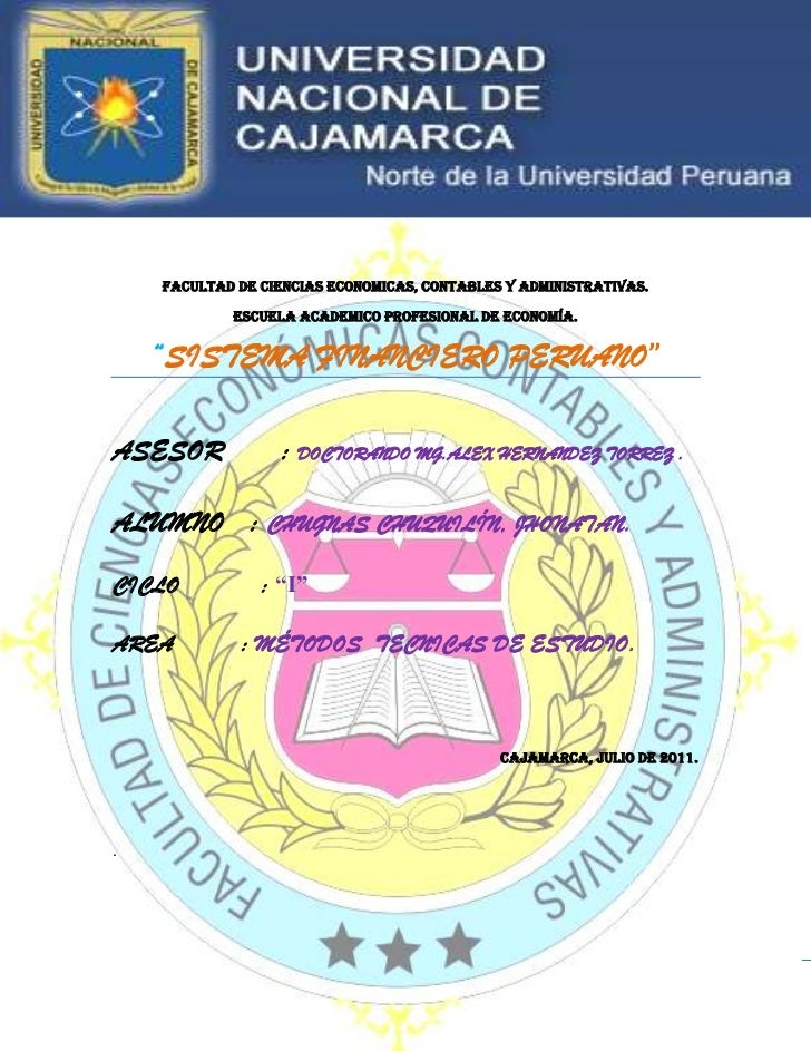Monografia del sistema financiero peruano