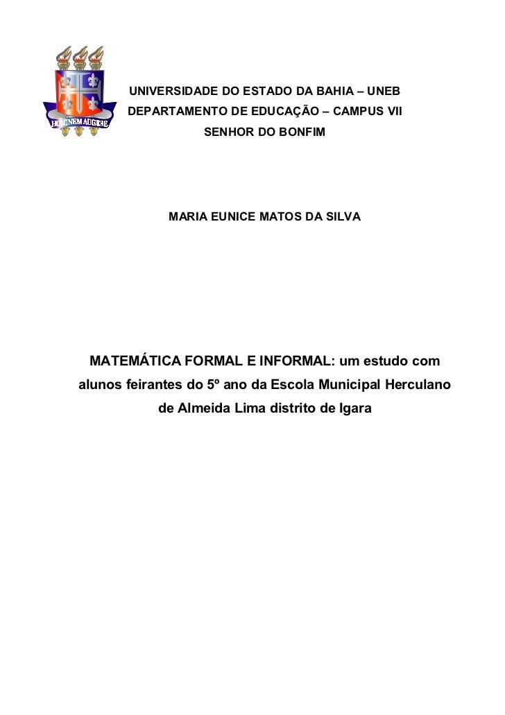 Monografia Eunice Matemática 2011