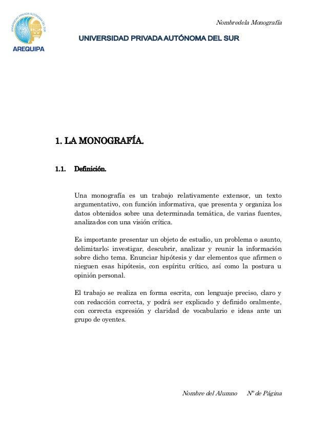 Ejemplo de Monograf a