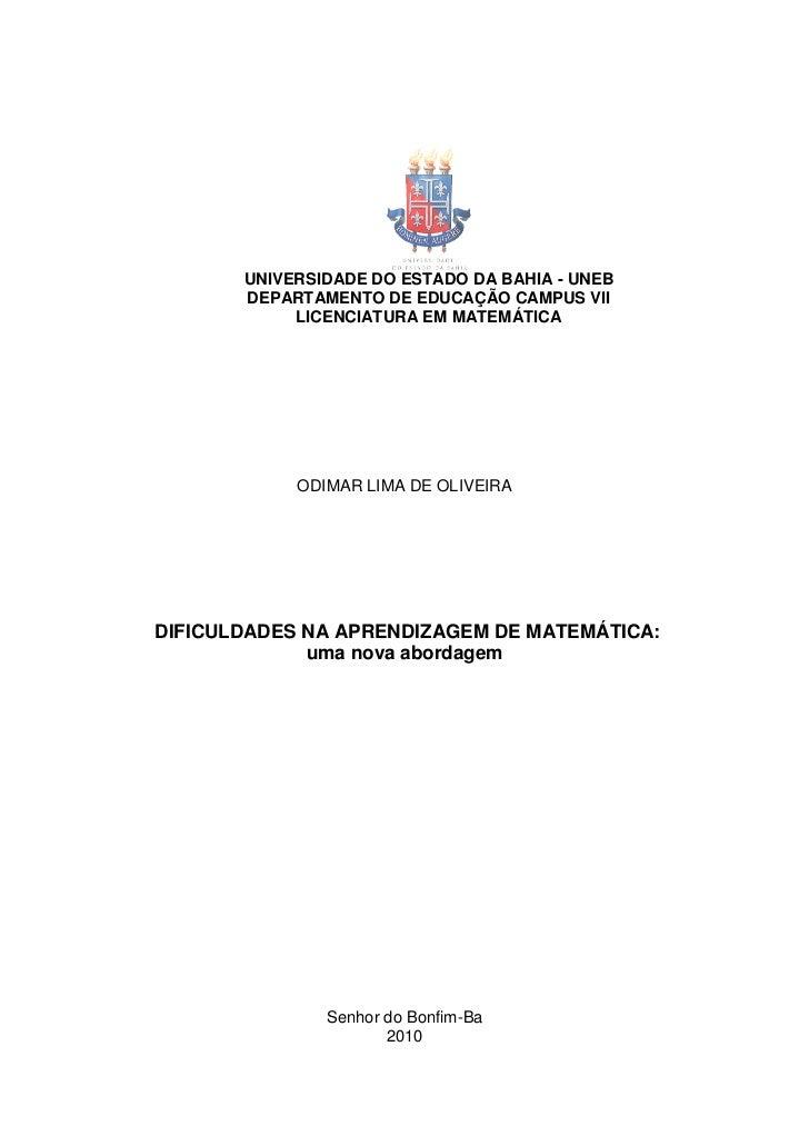 Monografia Odimar Matemática 2010