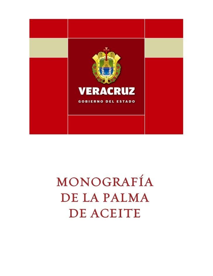 MONOGRAFÍADE LA PALMA DE ACEITE