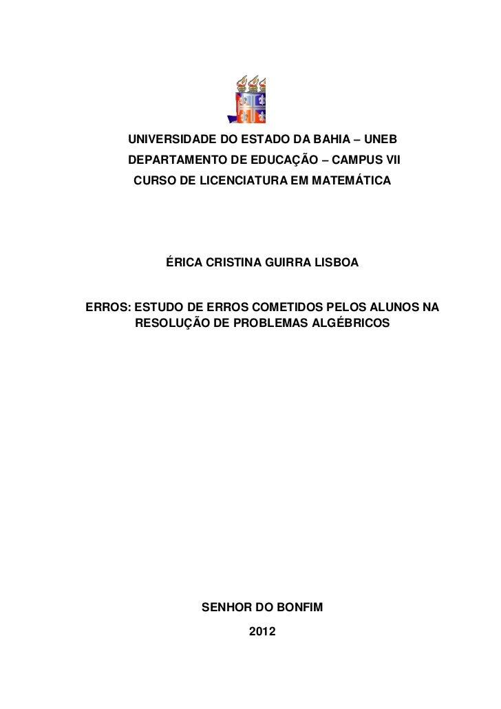 Monografia Érica Matemática 2012