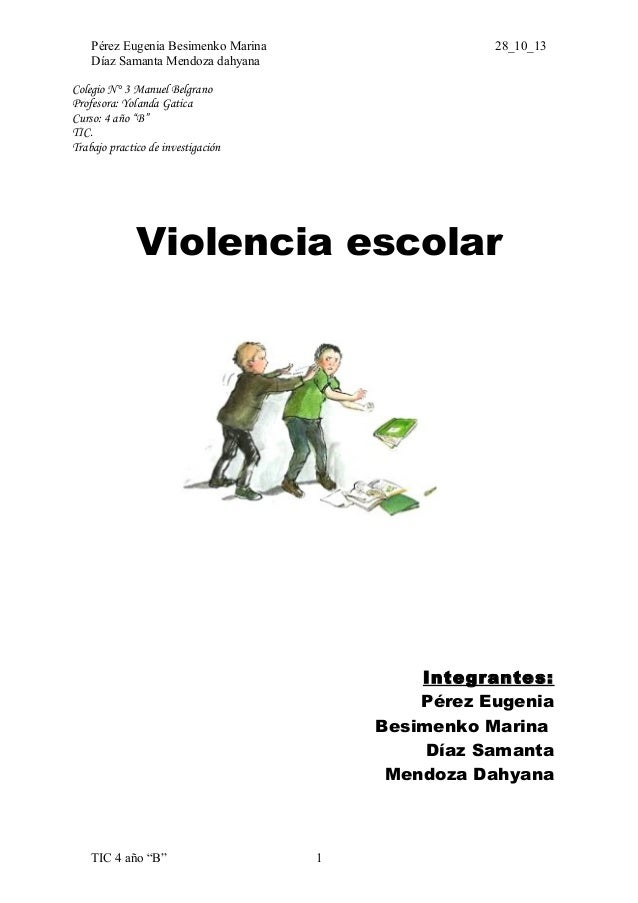 Monografia violencia escolar