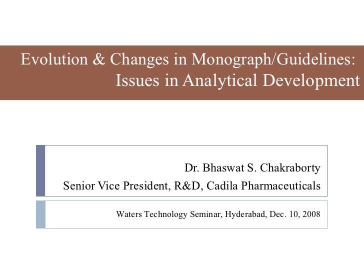 Monograph changes