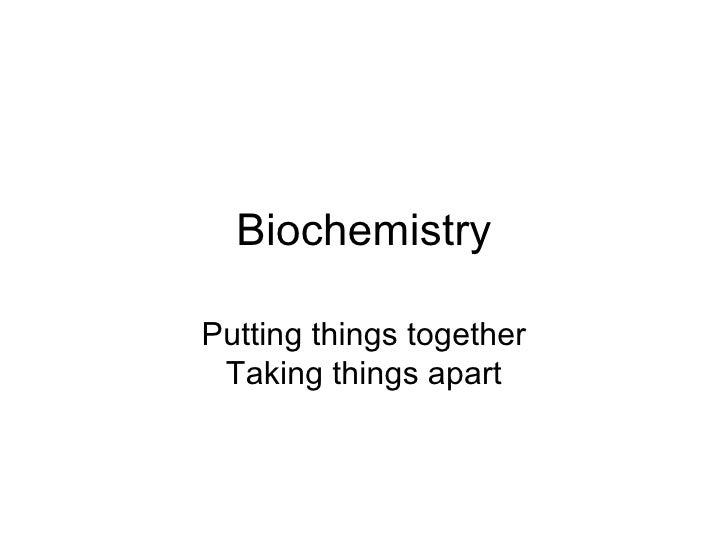 Biochemistry college thing