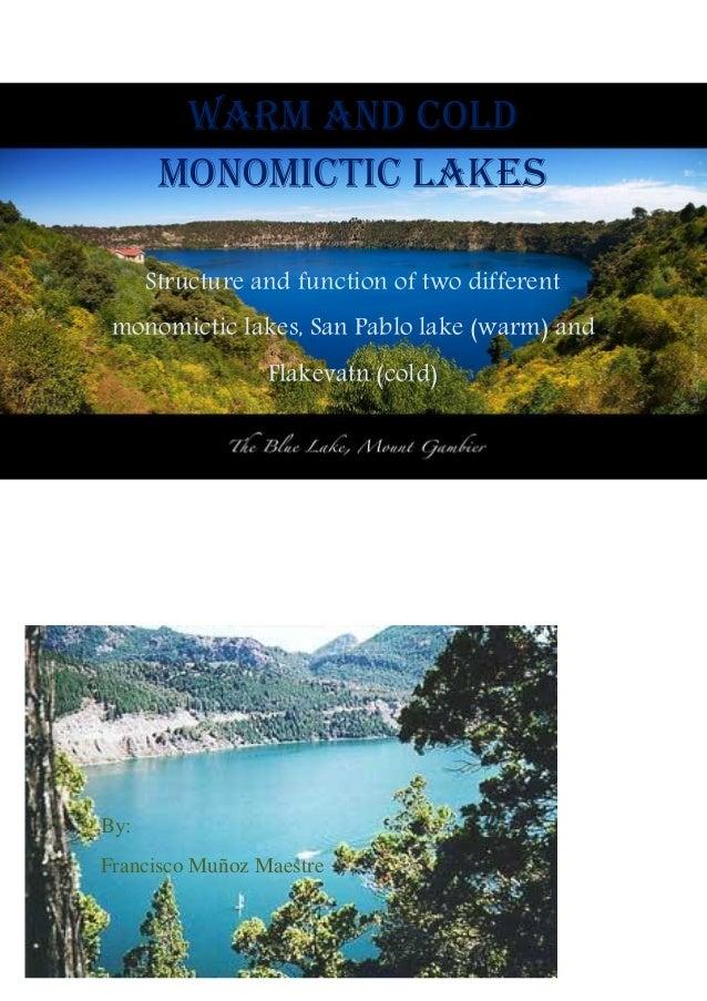 Monomictic lakes francisco muñoz maestre